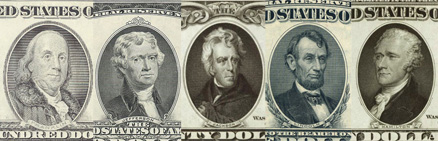 USA currency heros and villain